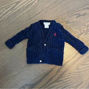 Baby boy cable knit sweater